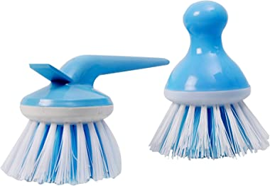 Sanctity Wash Basin Kitchen Sink Handy Scrubber Brush-2 Pieces (Color May Vary)