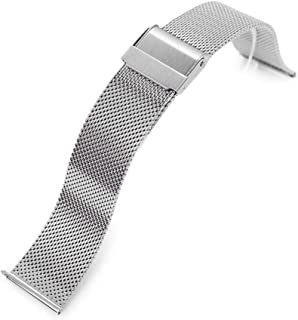 20mm Quick Release Classic Superfine Mesh Milanese Watch Band Polished