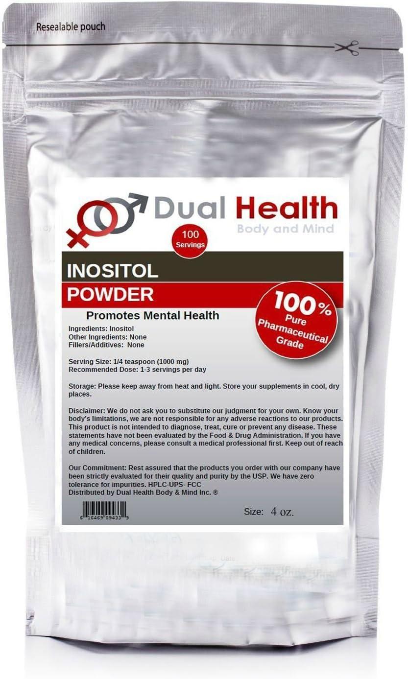 Bargain Popular products sale Pure Inositol Powder 4 Bulk Supplements oz