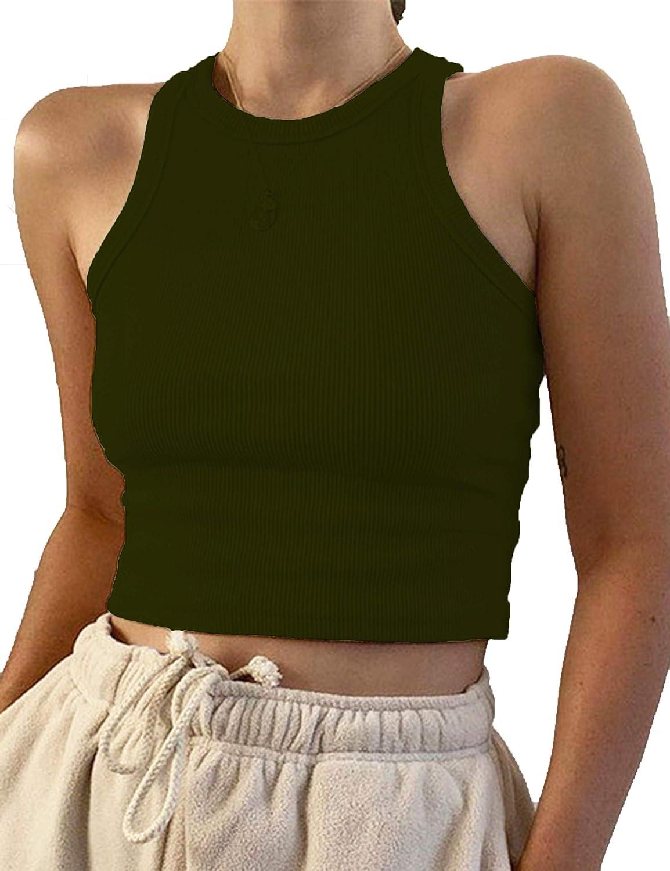 SAFRISIOR Women Plaid Shirt Sweater Crop Tops