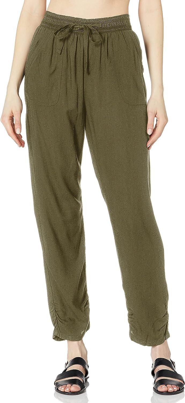 DKNY Damen Women's Smocked Pant Cover-up berwurf fr Schwimmbekleidung