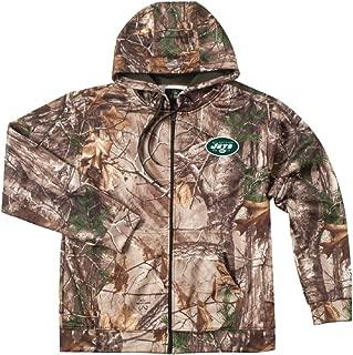 NFL New York Jets Camo Trophy Xtra Tech Fleece Full Zip hoodie, Small
