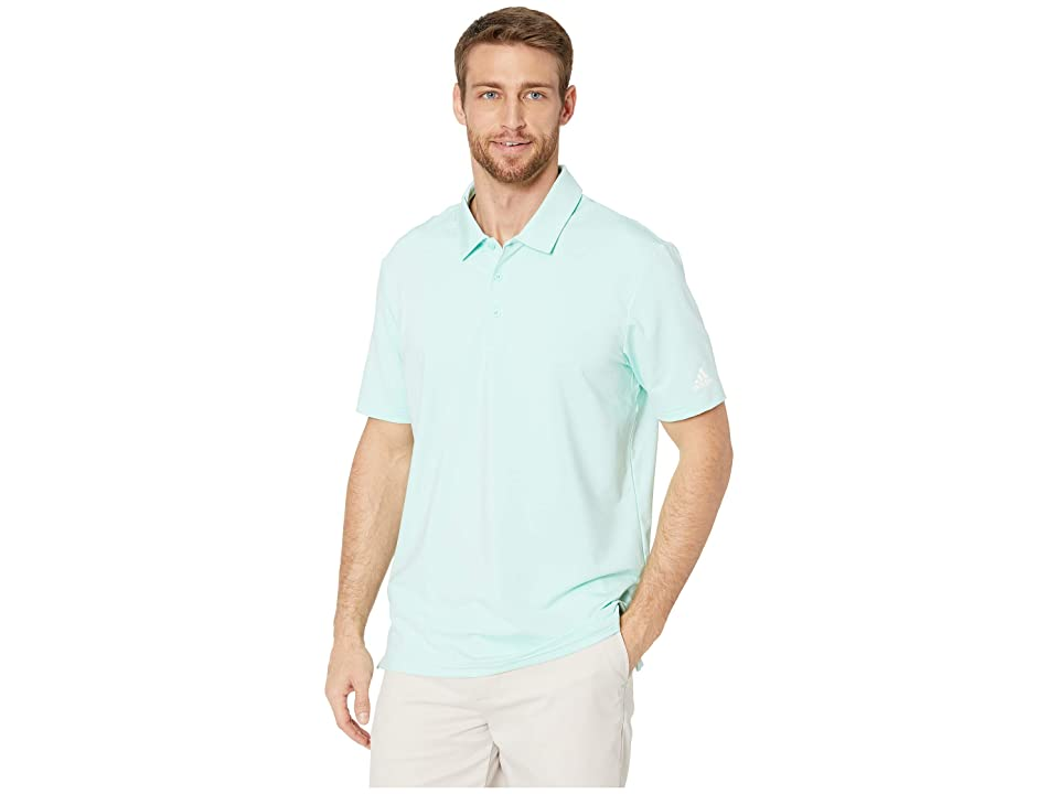 adidas Golf Ultimate Solid Polo (Clear Mint) Men