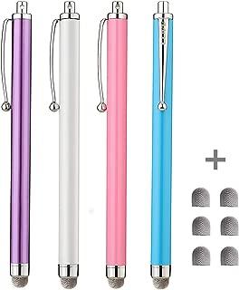 Stylus, CCIVV 4 Pcs Hybrid Mesh Fiber Tip Stylus Pens for Touch Screen Devices (5.3 inches-4pcs)