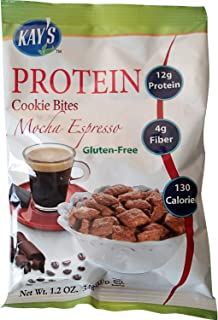 Kay's Naturals Protein Cookie Bites, Mocha Espresso, Gluten-Free, Low Carbs, Low Fat, Diabetes Friendly, All Natural Flavo...