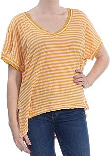 Women's Medium Striped V-Neck Knit Top