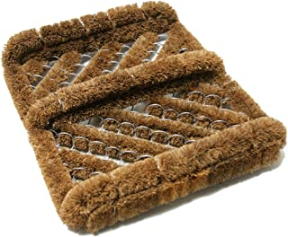 "Rubber-Cal ""Herringbone"" Coir Boot Scraper Brush, 2.5 by 12 by 13-Inch (10-100-009)"
