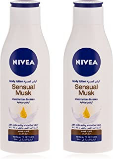 NIVEA Sensual Musk Body Lotion, Musk Scent, Normal to Dry Skin, 250 ml, Pack of 2