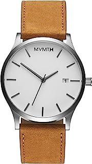 MVMT Classic Watches | 45 MM Men's Analog Minimalist Watch | Leather Wristband