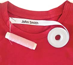 36 Sew-in Personalised Name Labels Tags 100% Cotton.