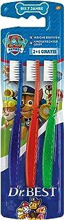 Dr. Best Paw Patrol szczoteczka do zębów, miękkie, przyjazne dla dzieci, 2 + 1 szt.