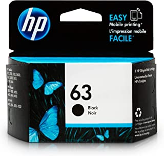 HP 63   Ink Cartridge   Black   F6U62AN (Renewed)
