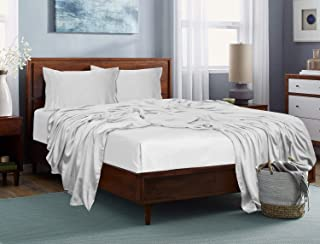 JVIN FAB Bamboo Sheets for Queen Size Bed 60x80 inches, 100% Pure, No Mixing, 4 Piece Set - 1 Flat Sheet, 1 Fitted Sheet, ...