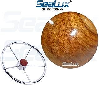 SeaLux Marine 2-5/8 INCH Genuine Teak Wood BOAT CENTER STEERING WHEEL CAP for Boat Destroyer Steel Wheels
