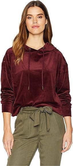 Melrose Brigade Velour Hoodie Sweatshirt