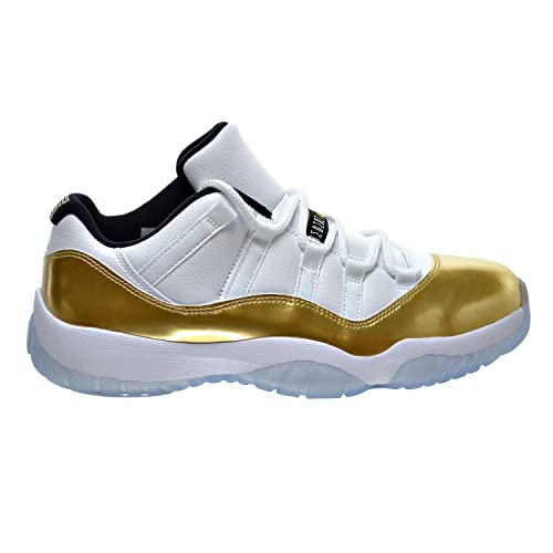 buy online a6148 79fc3 Jordan Air 11 Retro Low Men s Shoes White Metallic Gold Coin Black 528895-