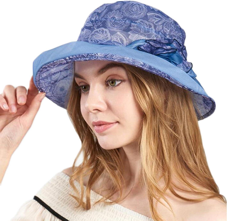 Fuodeau Fashion Women Summer Hat Silk Windproof Breathable Sun Hats Women Head Circumference Adjustable