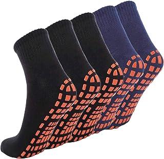 NOVAYARD 5 Pair Non Slip Socks Non Skid Sticky Grip Socks Yoga Pilates Hospital Socks Men Women
