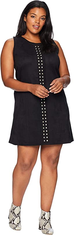 Plus Size Studded A-Line Dress