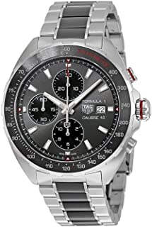 TAG Heuer Men's Formula 1 Swiss-Automatic Watch with Stainless-Steel Strap, Silver, 21 (Model: CAZ2012.BA0970)