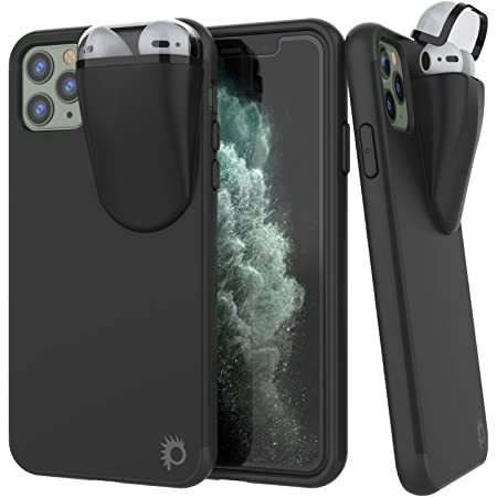 """Punkcase iPhone 11 Pro Max Airpods Case Holder (TopPods Series) 