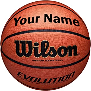 Wilson Customized Personalized Evolution Basketball Indoor Game Ball (29.5