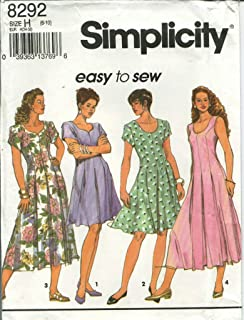 Simplicity 8292 Women's Fit and flared dress sewing pattern