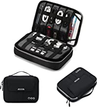 BAGSMART Universal Travel Cable Organizer Electronics Accessories Carry Bag for 9.7 inch iPad, Kindle, Power Adapter, Black+Grey