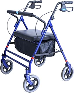 Invacare Bariatric Rollator, with Flip-up Padded Seat, 500 lb. Weight Capacity, 66550