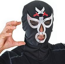 Bristol Novelty- Máscara de Luchador Macho para Disfraz, Color Negro, Talla única (BA1073)