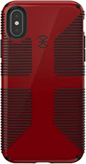 Speck Products CandyShell Grip iPhone Xs/iPhone X Case, Punch Red/Black