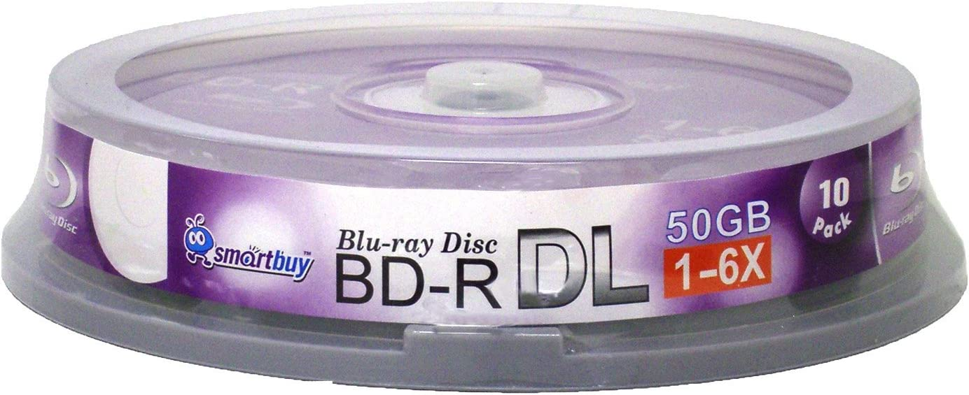 Boston Mall Smart Buy 10 Pack Bd-r Dl 6X Layer Ranking integrated 1st place Blu-ray Recordabl 50gb Double