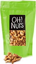 Oh! Nuts Dry Roasted Unsalted Cashews | All-Natural, No Additives, No Salt, No Oil| Fresh & Healthy, Protein Keto Snacks | Resealable 2-Lb. Bulk Bag | Low Sodium, Vegan & Gluten-Free Snacking