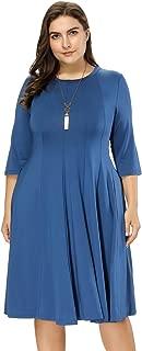 Women's Plus Size 3/4 Flowy Maxi Dress HNAF0001