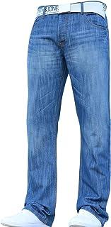 Smith and Jones New Mens Designer Straight Leg Regular Fit Relaxed Denim Jeans Pants Jeanbase