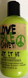 TIGI Love, Peace & the Planet Let it Be Cherry Almond Leave-In Conditioner, 8.45 fl oz (Pack of 2)