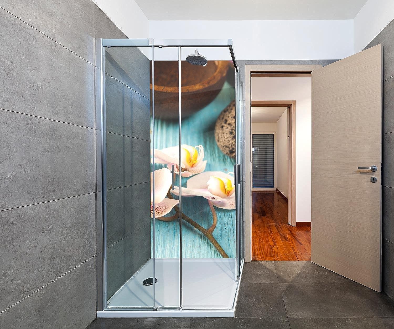 Wandmotiv24 Duschrückwand frisches und organisches Konzept 90 x 200cm (B x H) - Plexiglas 4mm Duschwand Design, Keine Fugen M0968
