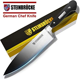 STEINBRÜCKE Chef Knife 8 inch, Kitchen Knife,German 5Cr15Mov Stainless Steel Blade, Length-8