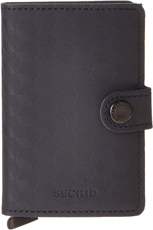 Secrid Mini Wallet Optical Black Leather Secrid RFID Safe Card Case for max 12 cards