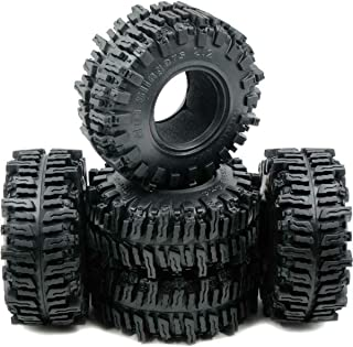 "RC 5pcs 2.2"" Mud slingers Tires Sticky Crawler Tires Height 124mm W/Foam Black"