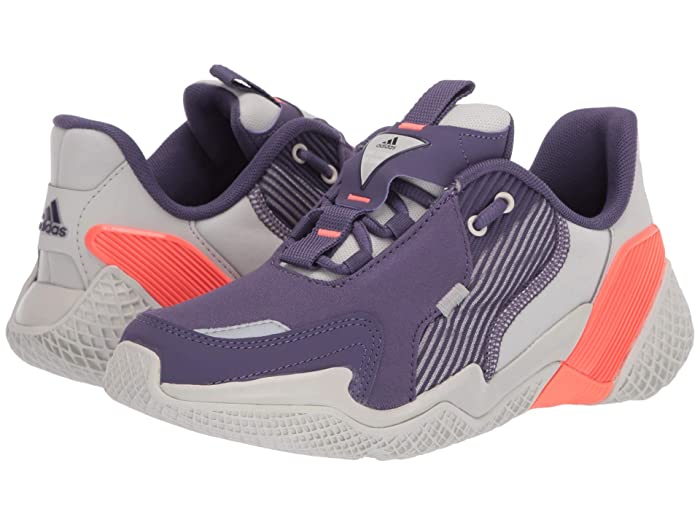 adidas Kids  4uture Rnr (Big Kid) (Orbit Grey/Tech Purple/Signal Coral) Girls Shoes