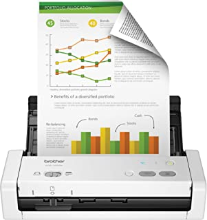 Brother RADS1250W Wireless Portable Compact Desktop Scanner, RADS-1250W, Easy-to-Use, Fast Scan Speeds, Ideal for Home, Home Office or On-The-Go Professionals, White (Renewed)