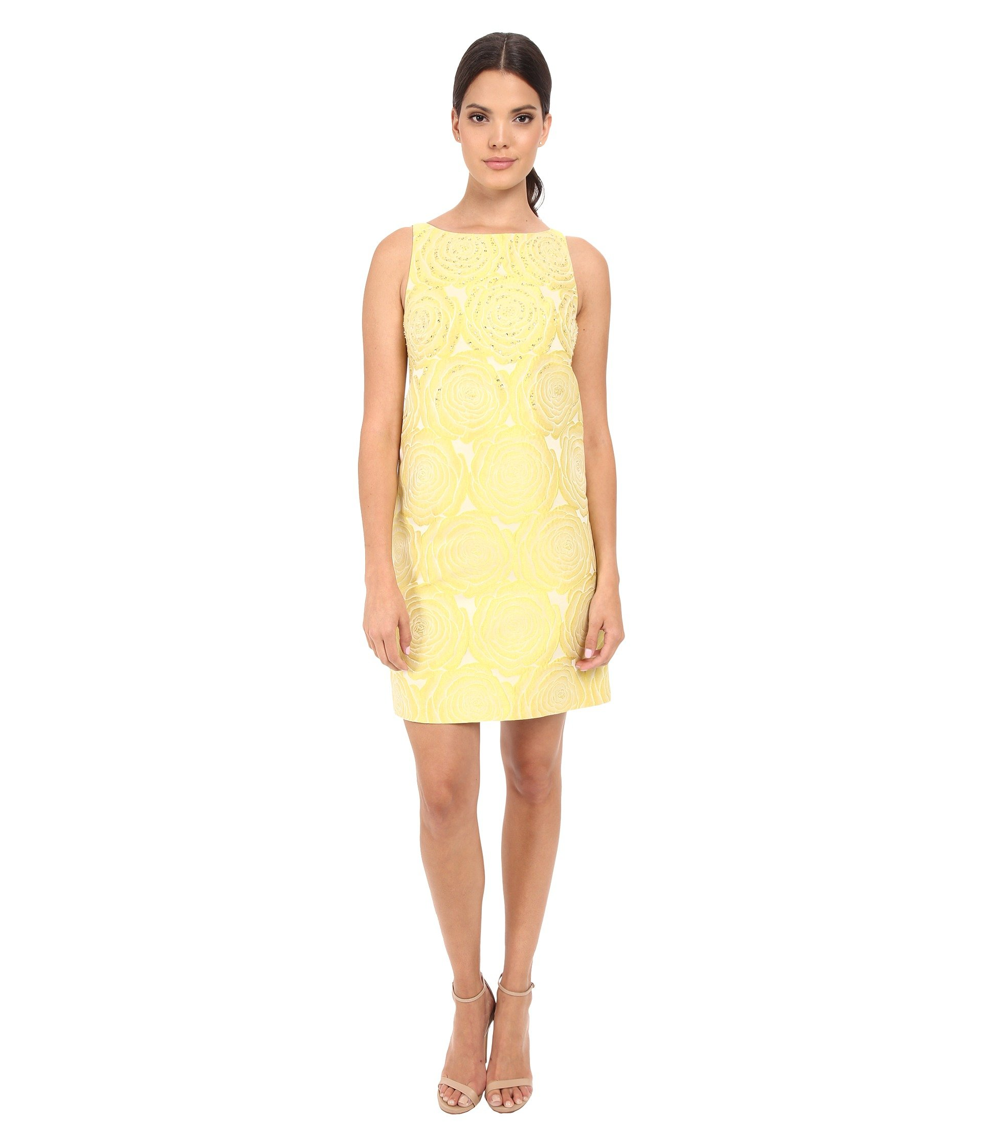Vestido para Mujer Adrianna Papell A-Line Beaded Jacquard  + Adrianna Papell en VeoyCompro.net