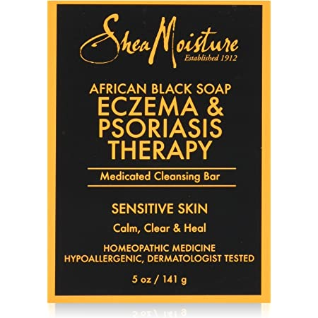 Shea Moisture Soap 5 Ounce Bar African Black (Eczema Therapy) (148ml) (2 Pack)