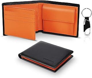 TEEHON® Portafoglio Uomo Slim Vera Pelle Blocco RFID, con Tasca Portamonete,2 Scomparti Banconote,10 Porta Carte di Credit...