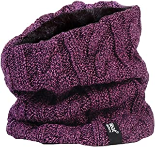 purple snood scarf
