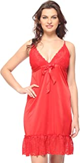 Vixenwrap Rose Red Solid Babydoll(L_Red)
