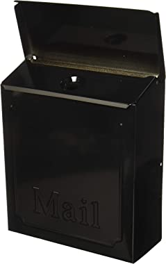 Solar THVKB0001 THVKB001 Black Townhouse Wall Mount Mailbox, 10.75""