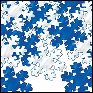 Fanci-Fetti Snowflakes (blue & silver) Party Accessory  (1 count) (1 Oz/Pkg)