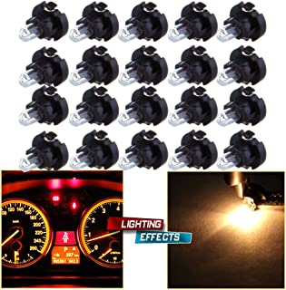 cciyu 20 Pack Warm White T3 Neo Wedge Halogen Bulb Replacement fit for A/C Climate Control Light 12V